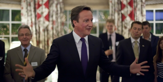 A double bind: Cameron urges non-discrimination in one policy area, while wanting to discriminate in another