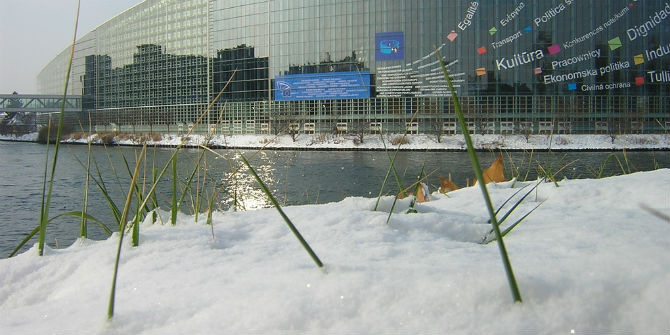 european parliament snow
