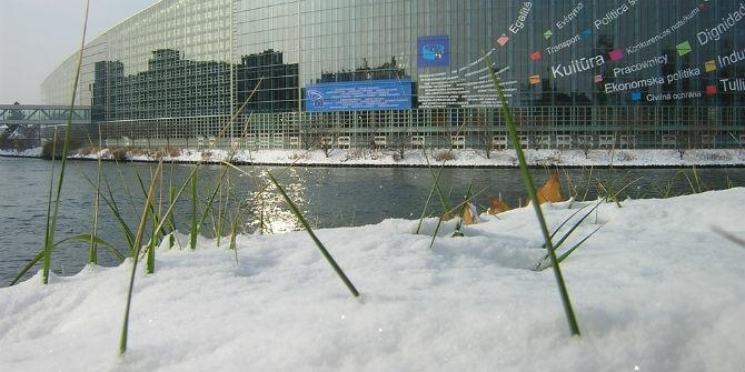 european parliament snow