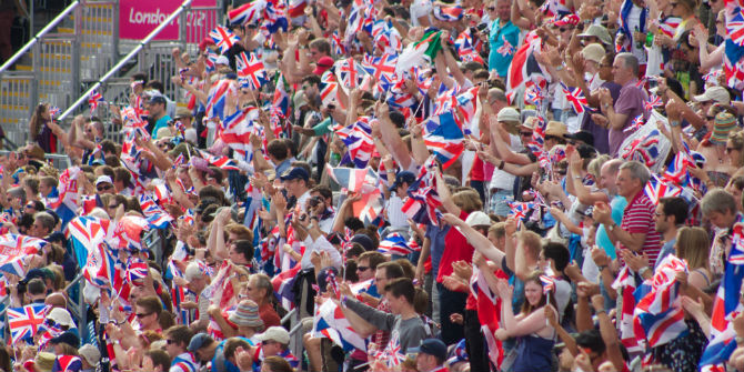 olympics crowd flags