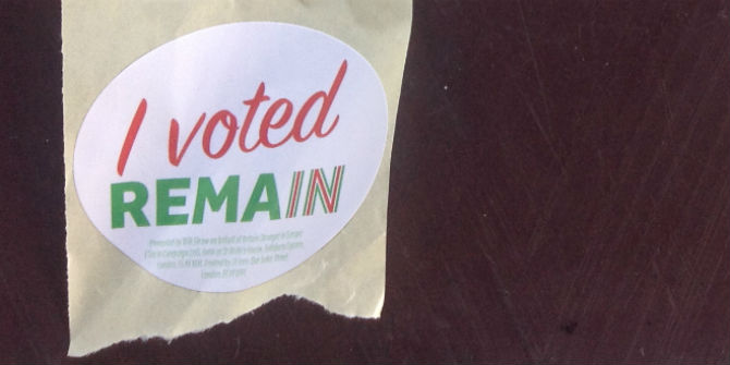 Lse brexit letter to mps from a remain voter a plea for realism i voted remain sticker publicscrutiny Images