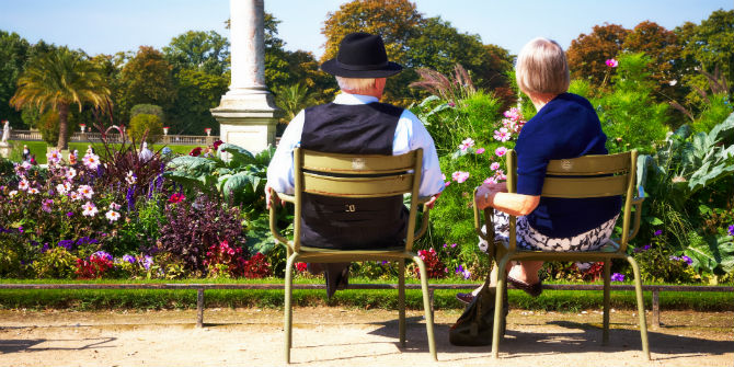 elderly couple paris