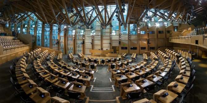 Debating chamber of the Scottish Parliament © User:Colin / Wikimedia Commons