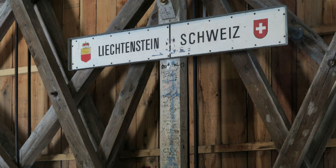 switzerland liechtenstein border sign