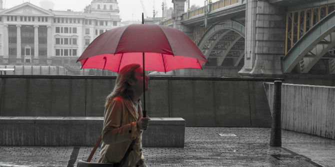 umbrella london bridge