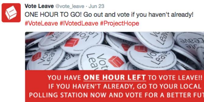 vote leave tweet