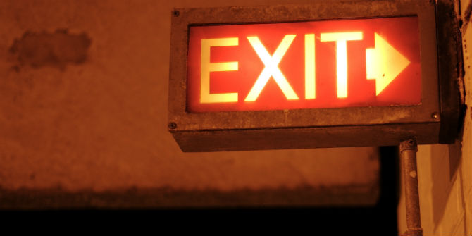 exit right