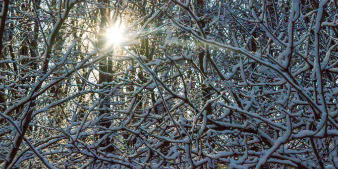 snow sun