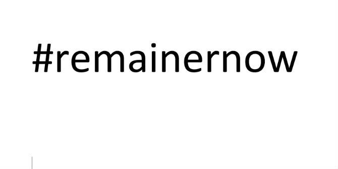 remainernow