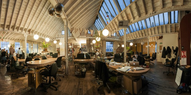 The fast growth of co-working spaces in London