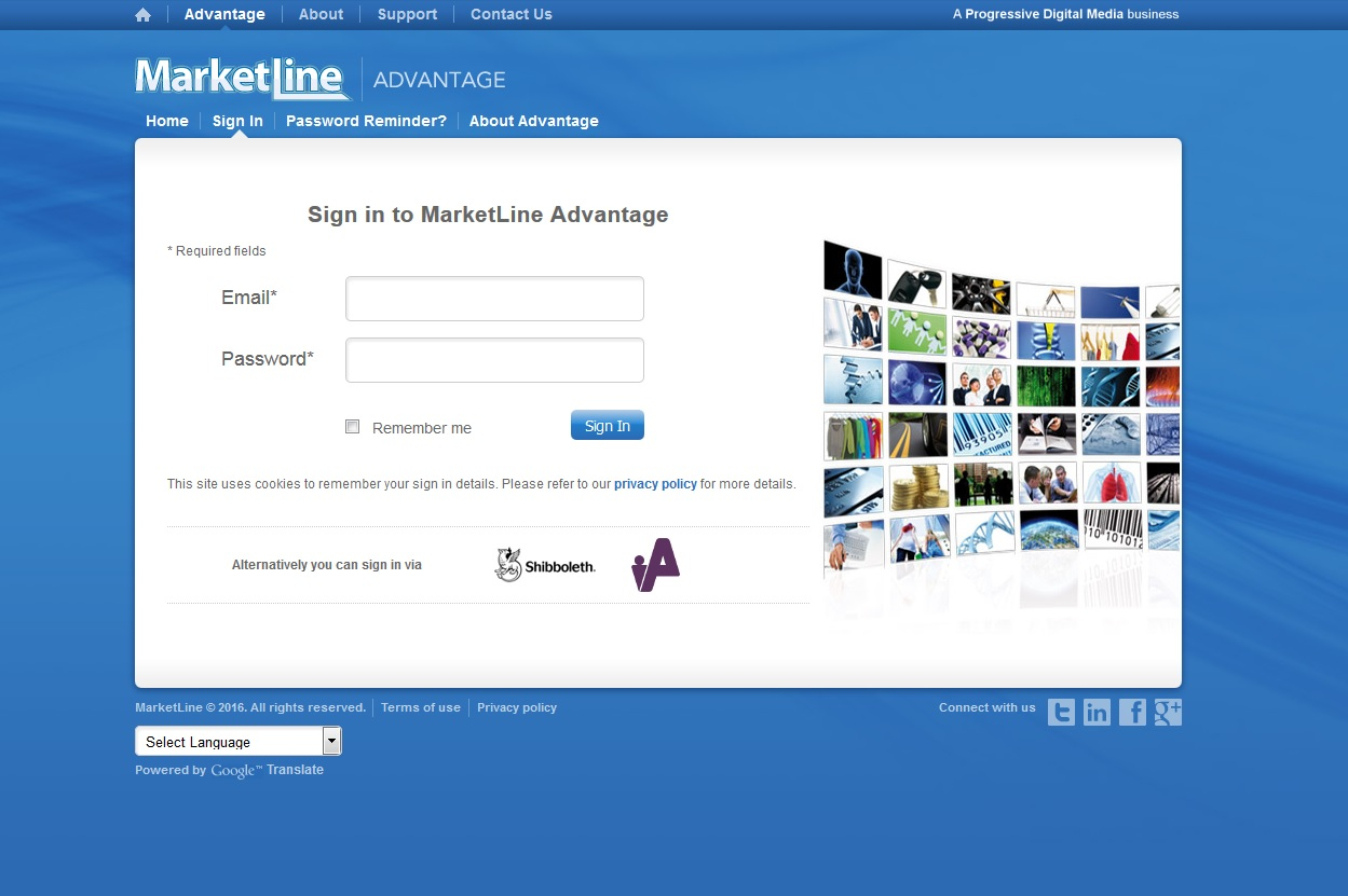 MarketLine Advantage website