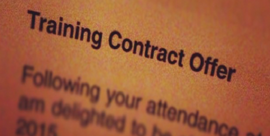 What are you expecting from a Training Contract?