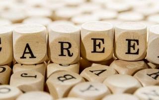 'Career' spelt in wooden blocks