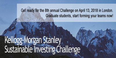 Change the world with the The Kellogg-Morgan Stanley Sustainable Investing Challenge