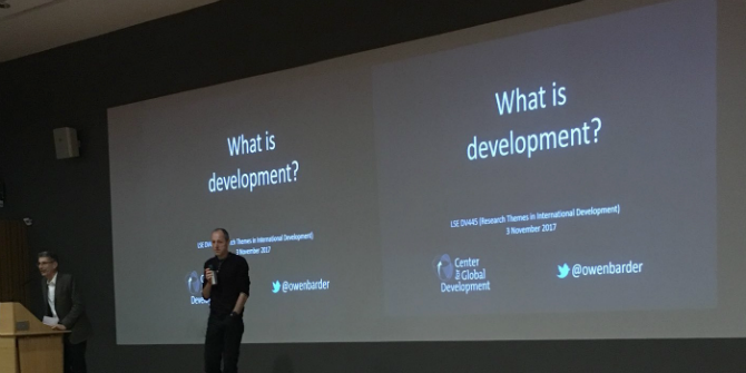 'What is development?' lecture (credit Arbie Baguios)