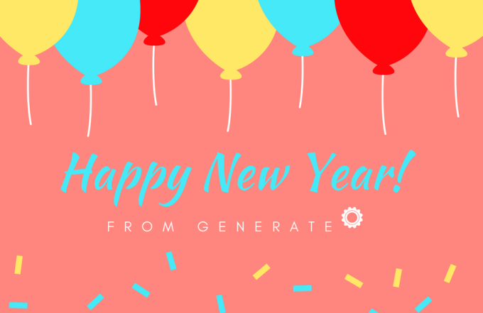 Happy 2018 from Generate!
