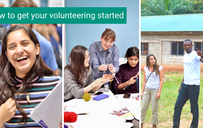 How to get your volunteering started