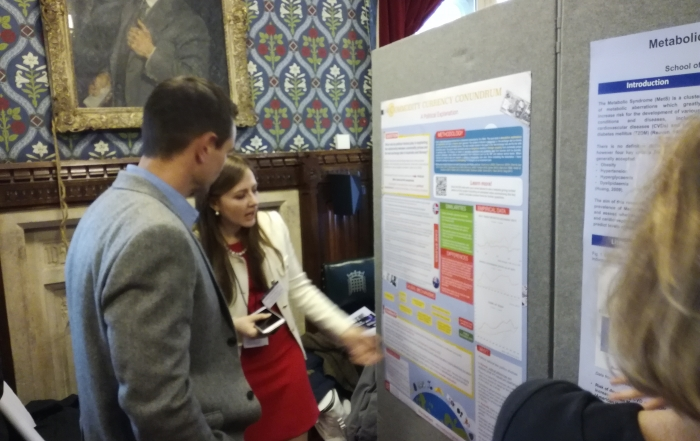 LSE Government and Economics students present their work at Posters in Parliament 2017