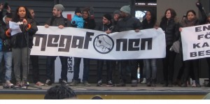 Megafonen demonstration in Sweden