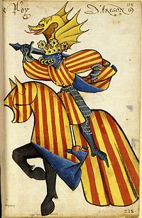 King of Aragon Armorial ecuestre del Toison de Oro, 1433-1435