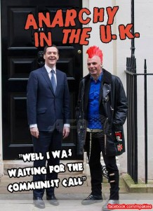 Meme circulated in social media, after Varoufakis's meeting with George Osborne on the 2nd of February.