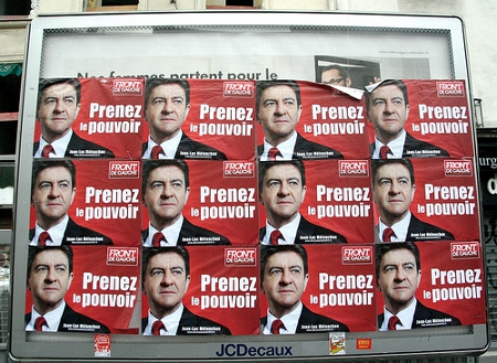Election posters for the Front de Gauche and Jean-Luc Mélenchon Credit: Thomas Bartherote (Creative Commons BY SA)