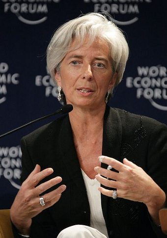 Christine Lagarde, Managing Director of the IMF (Credit: World Economic Forum, CC BY 2.0)