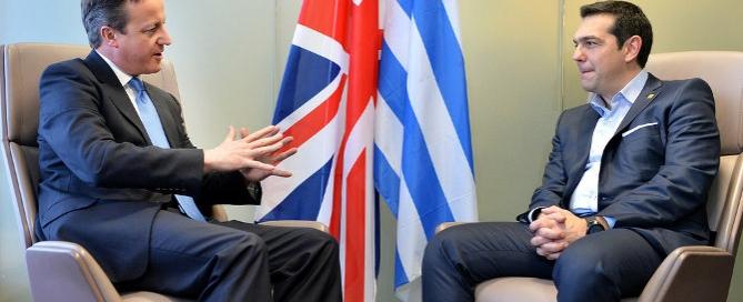 David Cameron and Alexis Tsipras, Credit: Arron Hoare (Crown Copyright)