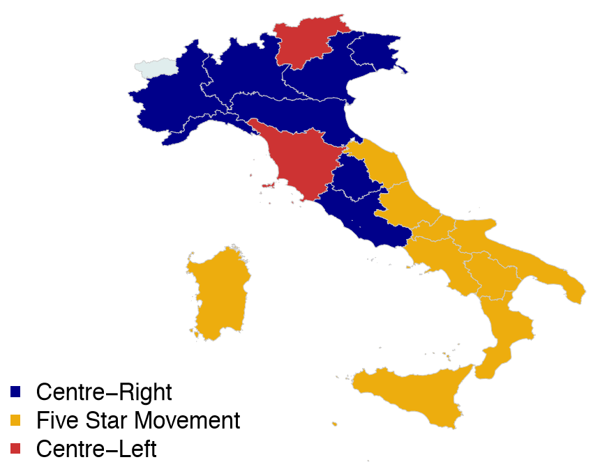 Map Of Uk General Election Results.Understanding Italy S New Bipolar Populism Europp