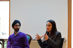 Jasvir Singh of the City Sikh Network, and Nava Ashraf of Harvard Business School contributing to a session of Faith and the City