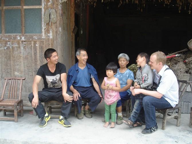 Doing fieldwork - the author on the far right