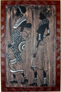 An untitled painting given to the author by Hon. Christopher Mulenga, Deputy Minister of Health