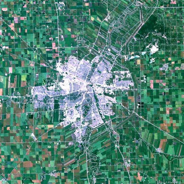 Figure 1. Aerial view of Winnipeg, Canada