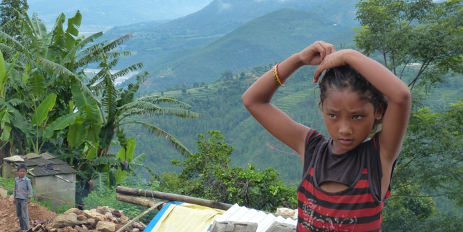 Nepal Earthquake reconstruction, image of a young girl