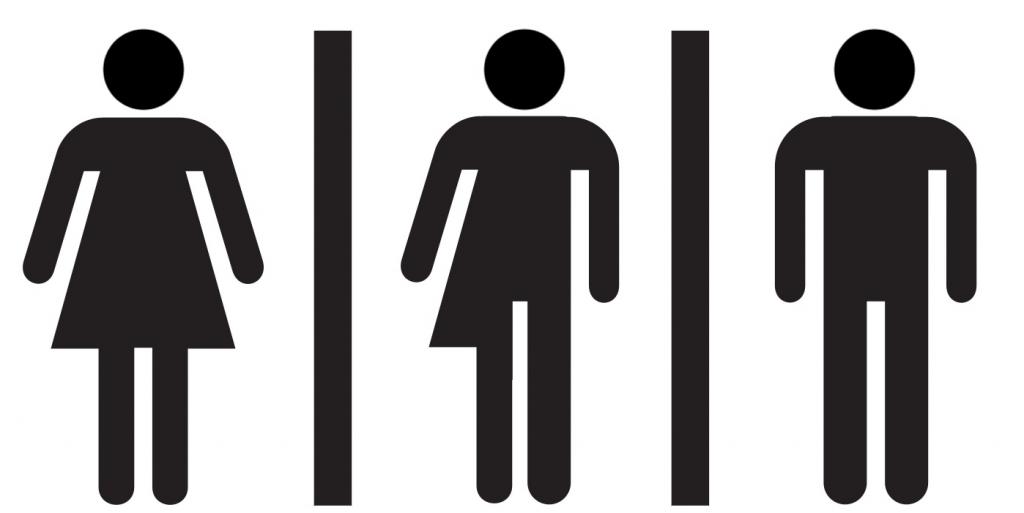 picture gender neutral restroom sign