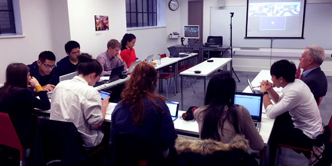 LSE students attending the long-distance virtual course with Montclair State University.
