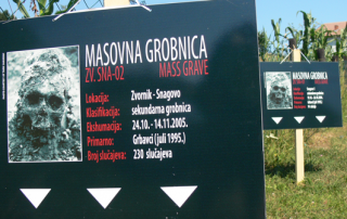 Two secondary mass graves near Snagovo, Zvornik, Bosnia and Herzegovina.