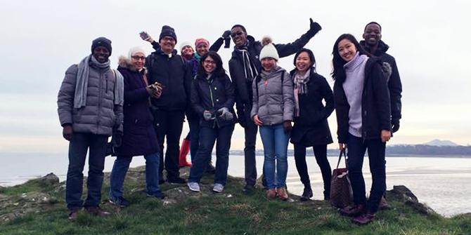 Volunteers at the Cramond Beachwatch volunteering event (credit: Sharon-Shuen)