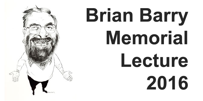 EVENTS: Brian Barry Memorial Lecture 2016: 'On Exchange'
