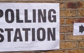 Polling-station-sign