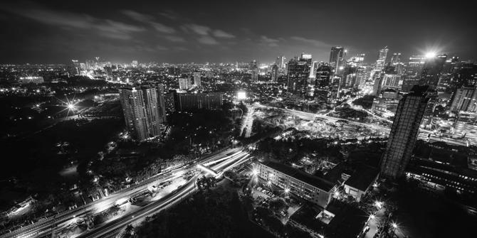 Late night view of the Jakarta skyline