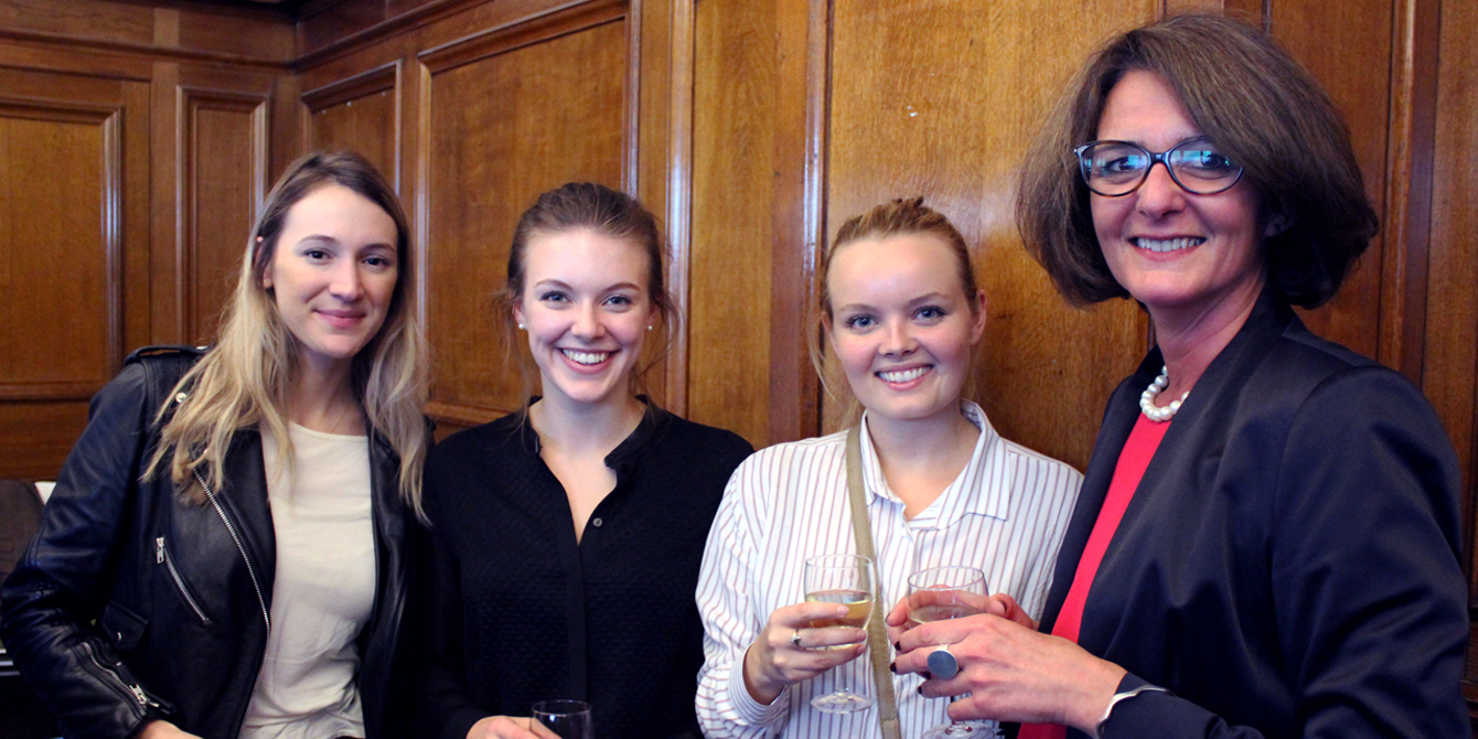 Denisa Kostovicova with some of our MSc Conflict Studies students