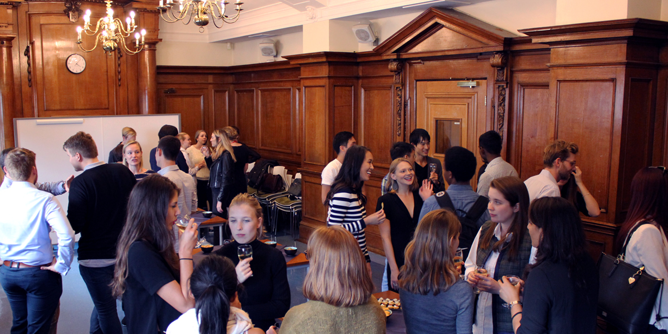 New students at our MSc Conflict Studies welcome reception