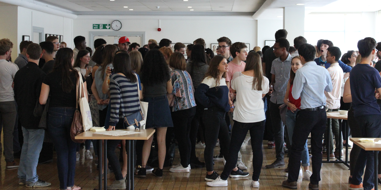 New undergraduate students at our Welcome Week 2016 reception