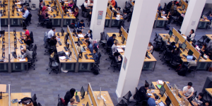 Students in the LSE Library