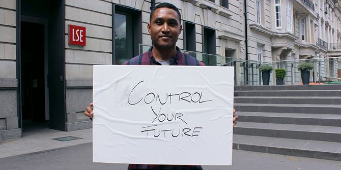 """Control your future"" Gerald (LSE Geography & Environment)"