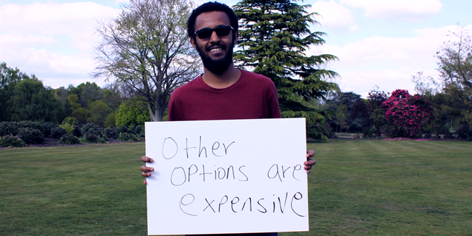 """Other options are expensive"" - Hallelujah (LSE Government)"