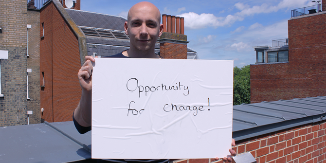 """Opportunity for change!"" - Nick (LSE History)"