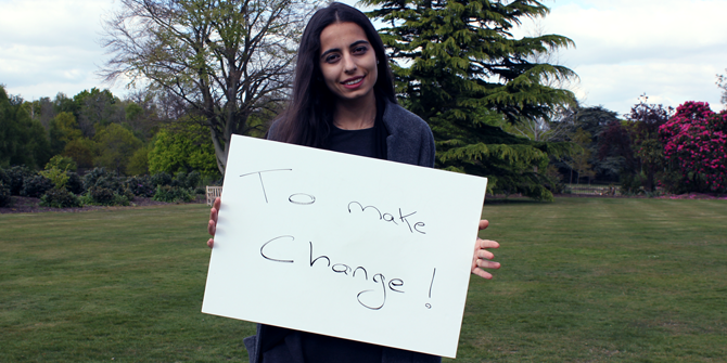 """To make change!"" - Zad (LSE Government)"