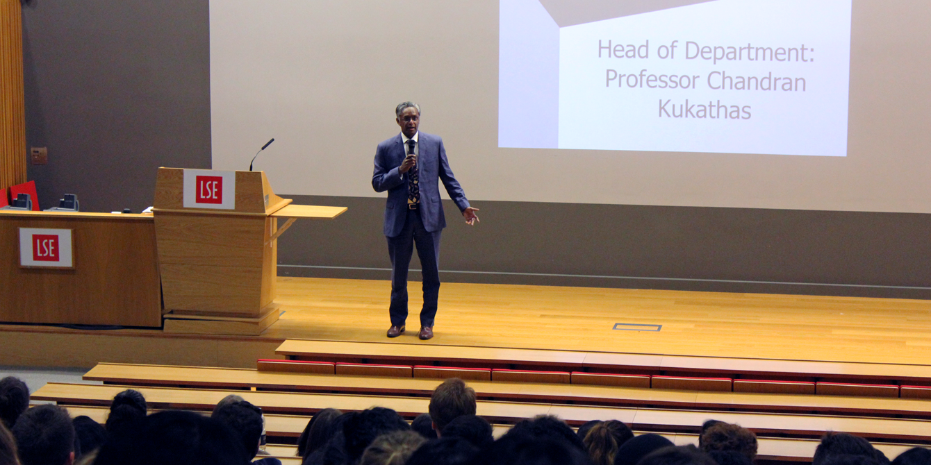 Head of Department Professor Chandran Kukathas welcome our new undergraduate students to the department